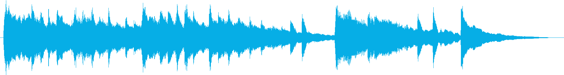 感動的エモーショナルなピアノサウンドロゴの再生済みの波形