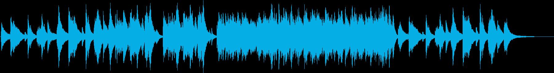 対峙する決意のピアノの再生済みの波形