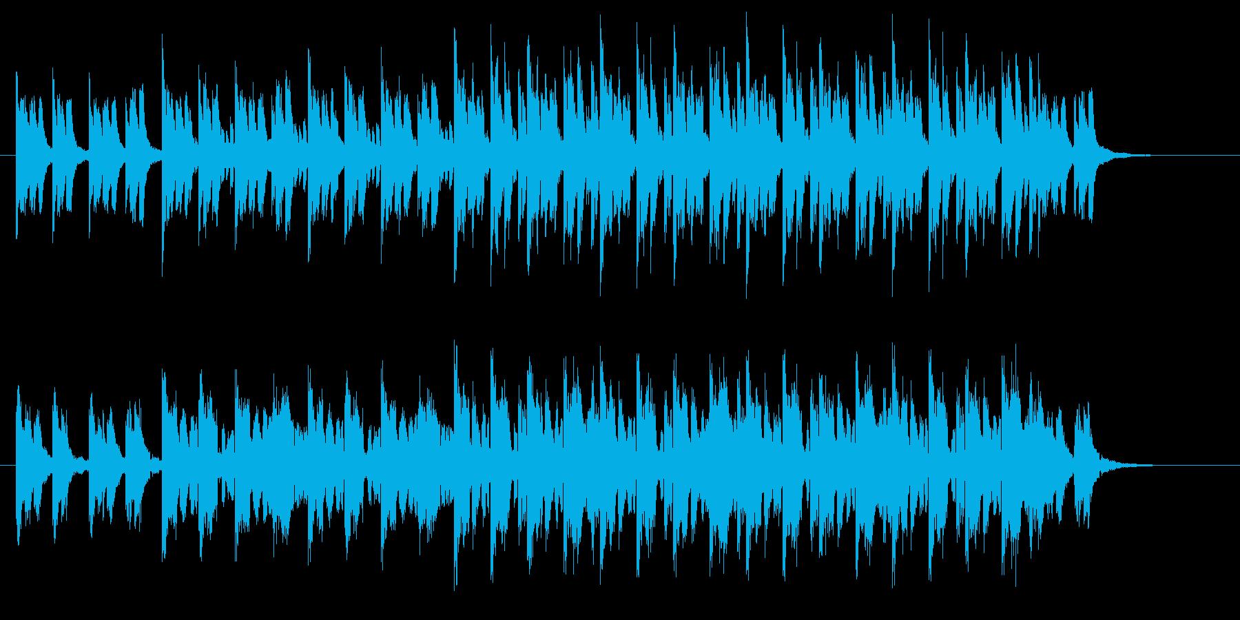 神秘的で軽快なテクノポップジングルの再生済みの波形