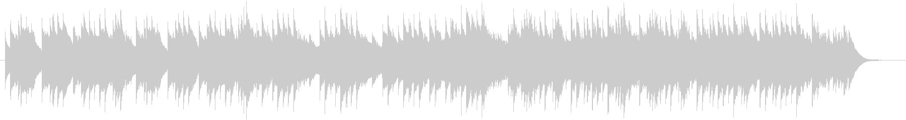 オルゴールによる優しい三拍子曲の未再生の波形