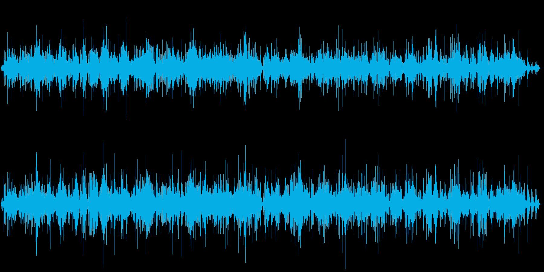 麻雀牌を混ぜている音を自分視点で聴ける…の再生済みの波形