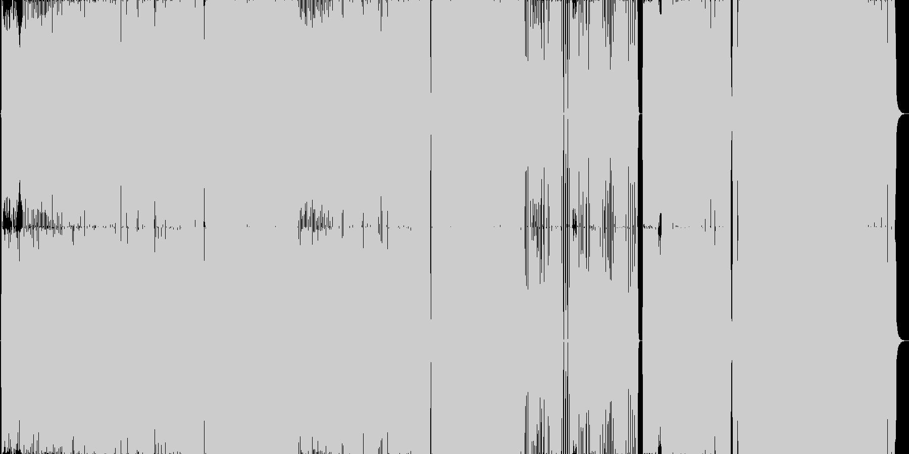軽快で展開の速いロック曲。ノリがよい。の未再生の波形