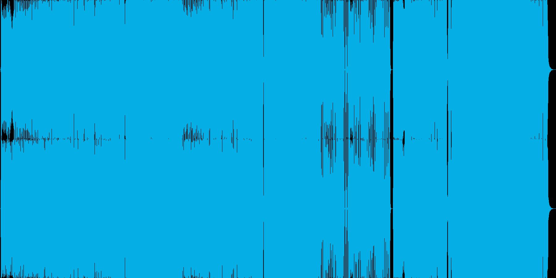 軽快で展開の速いロック曲。ノリがよい。の再生済みの波形