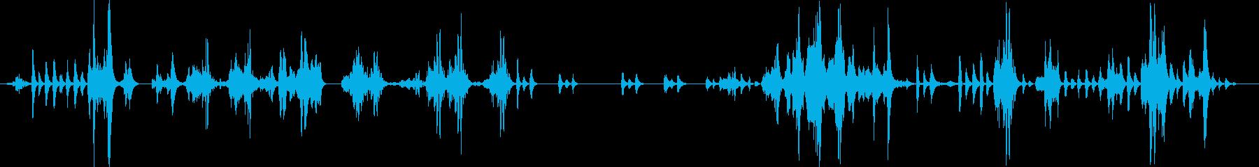文字化けしたTribbleデータコ...の再生済みの波形