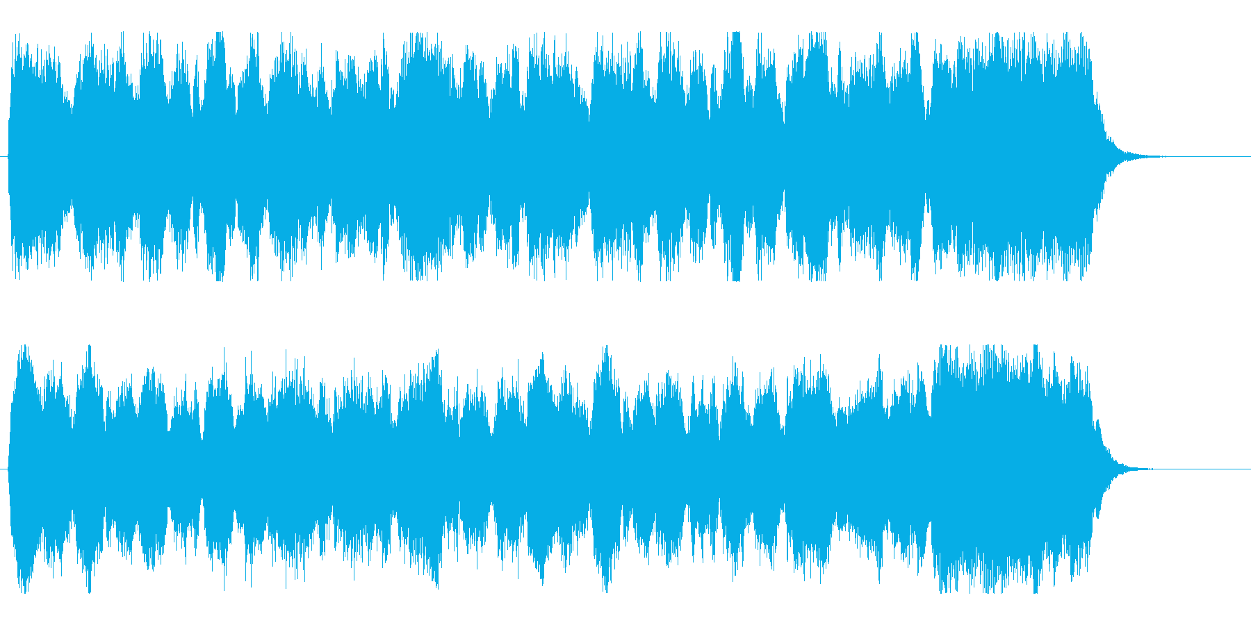 壮大で勇ましいオーケストラファンファーレの再生済みの波形