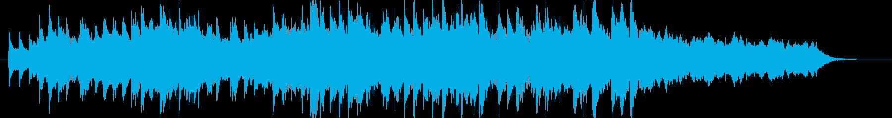 琴の音色をメインとした和風ジングルの再生済みの波形