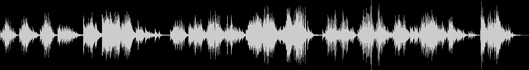 1匹狼のBGM(ピアノ・孤独・力強い)の未再生の波形