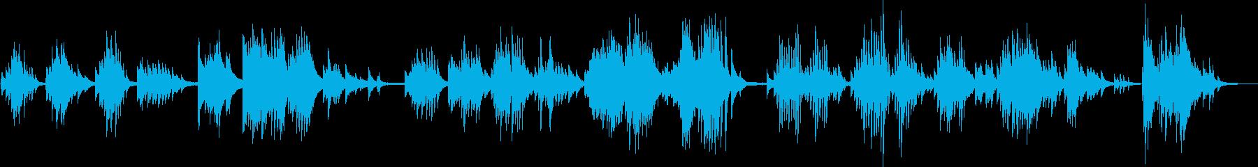 1匹狼のBGM(ピアノ・孤独・力強い)の再生済みの波形