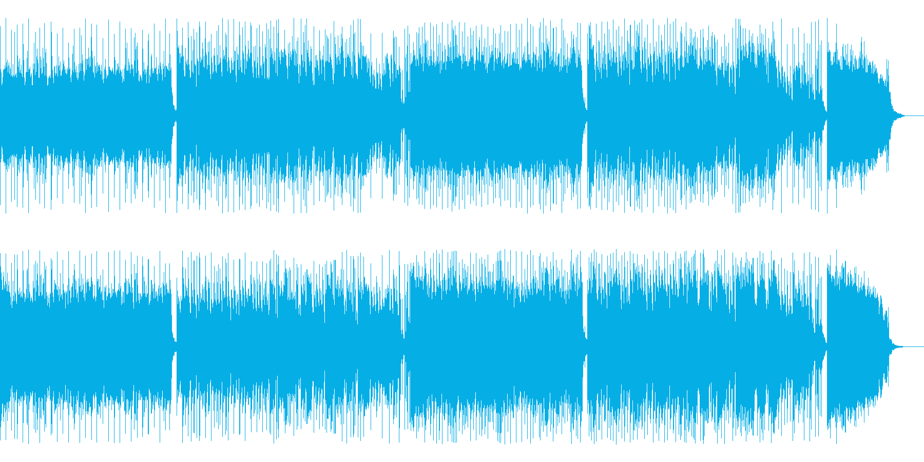 ヘヴィーなリフのロック の再生済みの波形