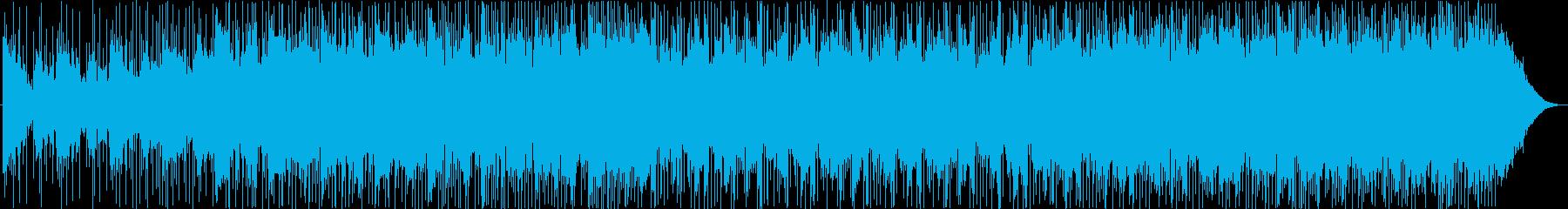 バックグラウンドアンビエントミュージックの再生済みの波形