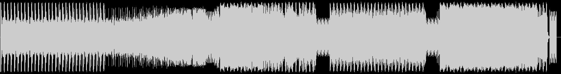 無機質なイメージのローファイテクノBGMの未再生の波形