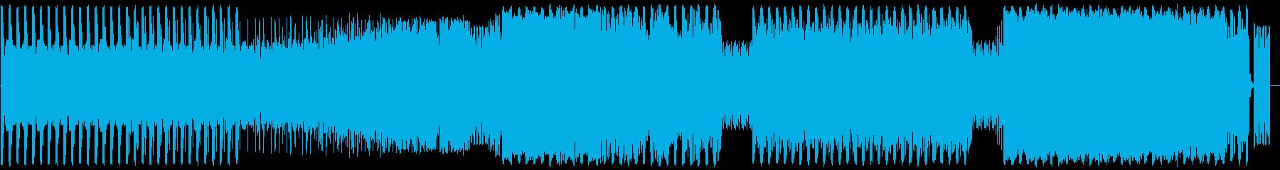 無機質なイメージのローファイテクノBGMの再生済みの波形