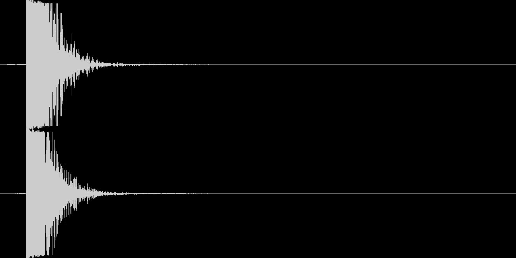 バルーン爆発の未再生の波形