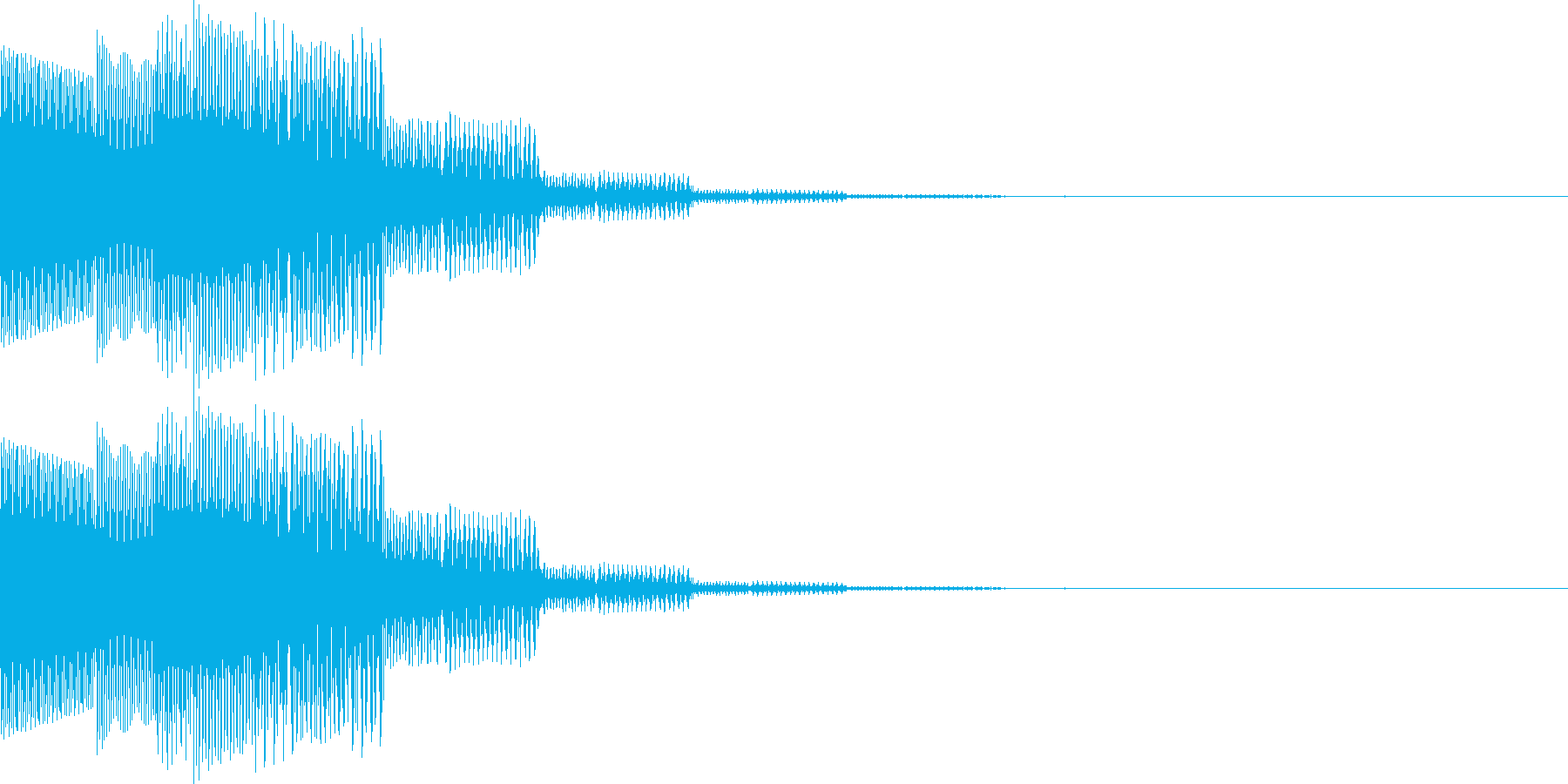 ピロロン(下がる、キャンセル、通信)の再生済みの波形