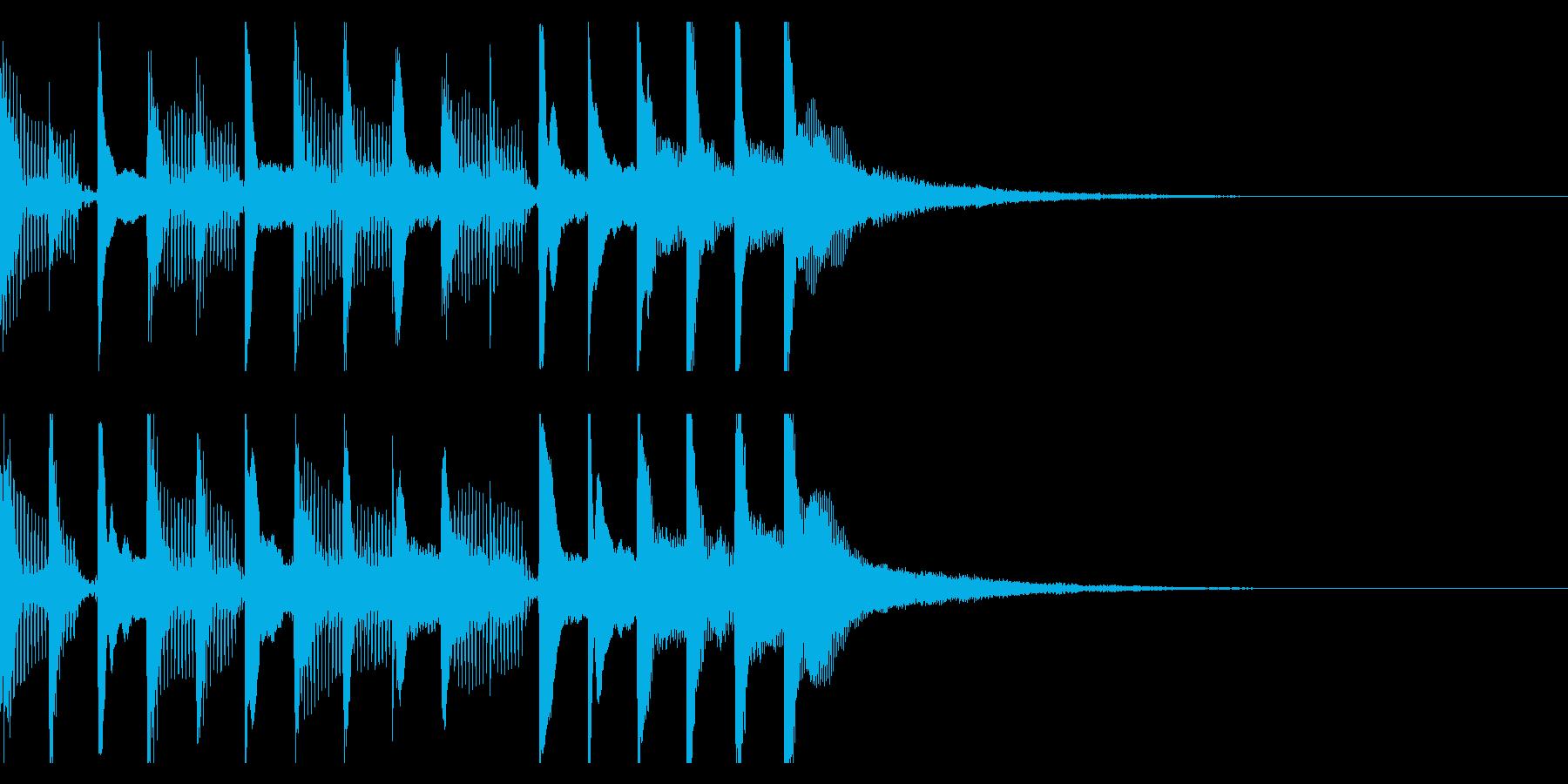 サウンドロゴ・短時間CMの再生済みの波形