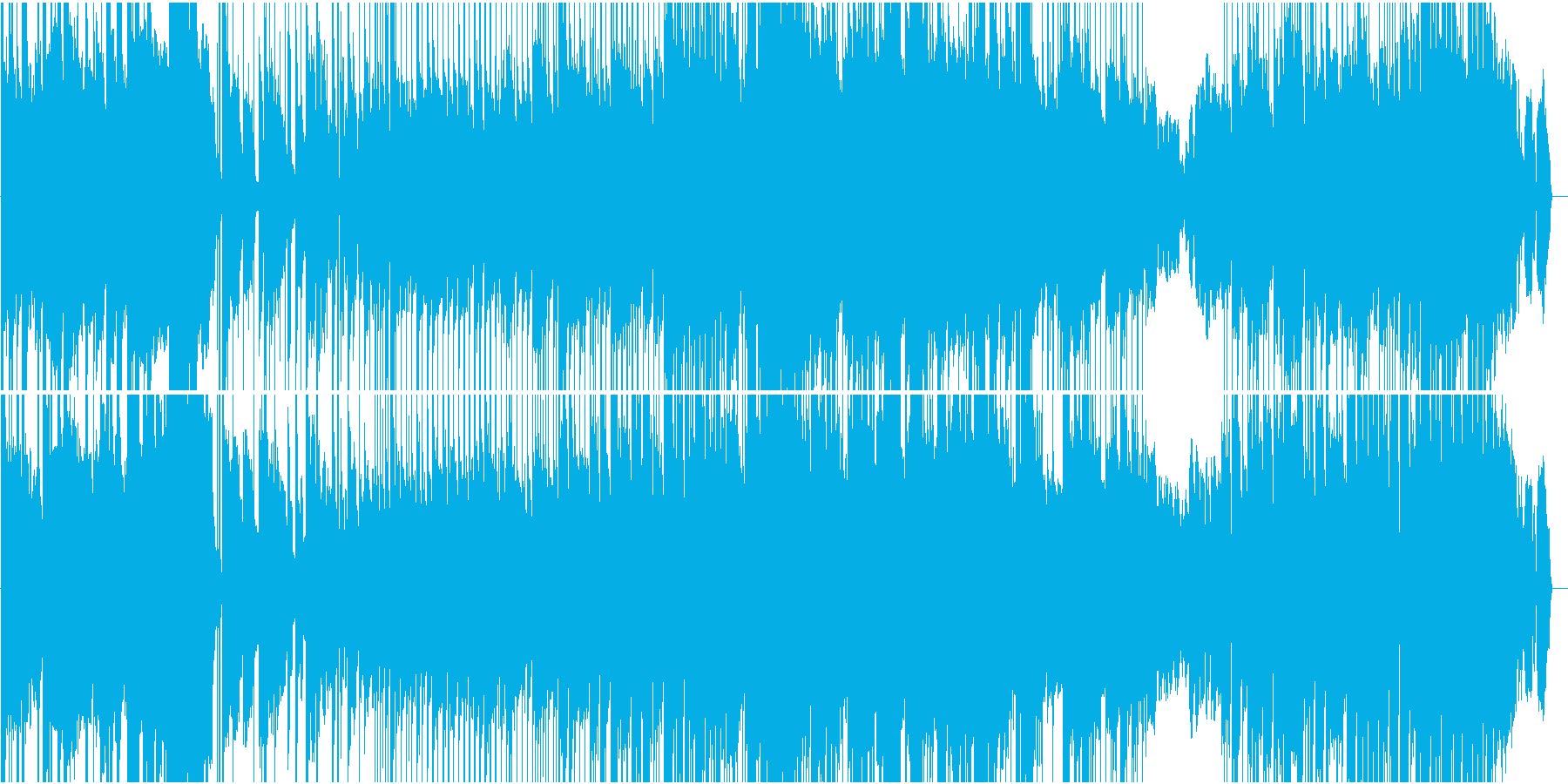 コミカルだけど真面目なポップロックの再生済みの波形