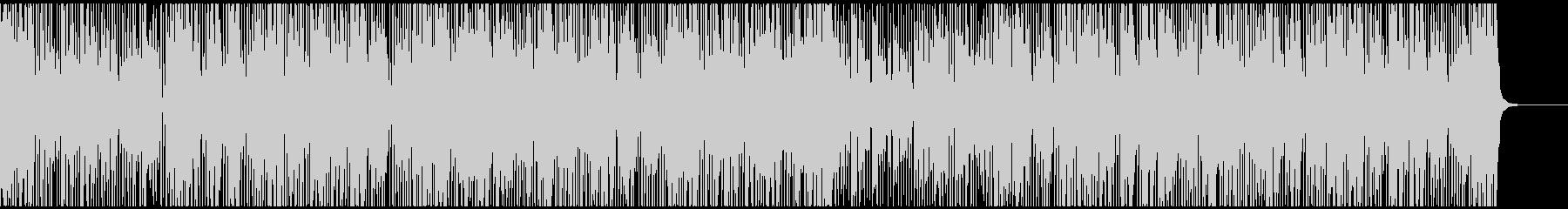 パーカッシブなFunkビートBGMの未再生の波形