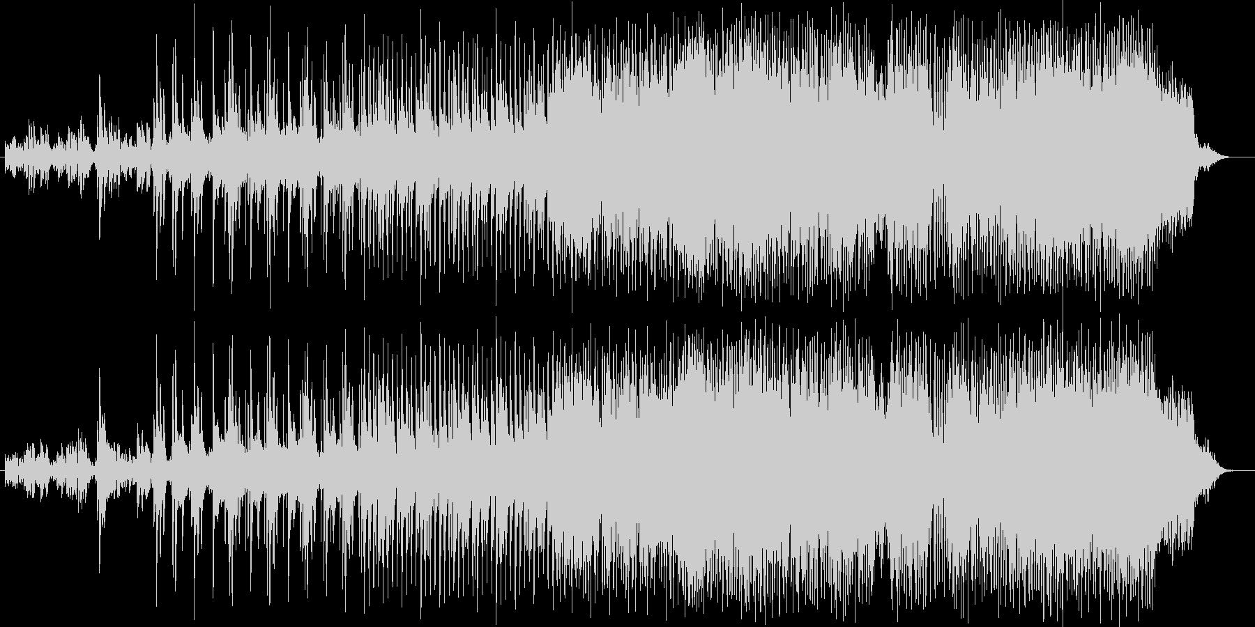 激しくかっこいいエレクトリックロックの未再生の波形