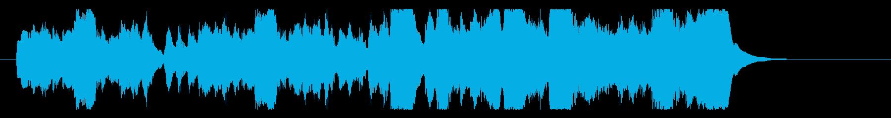 クラリネットのほのぼのオーケストラの再生済みの波形