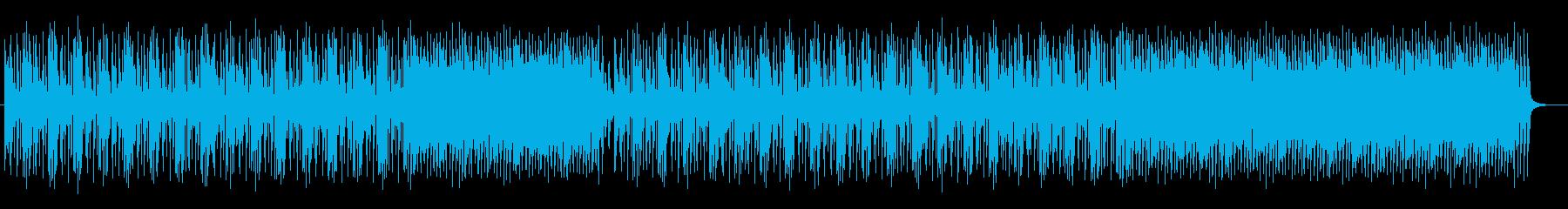 ユニークで軽快なテクノの再生済みの波形