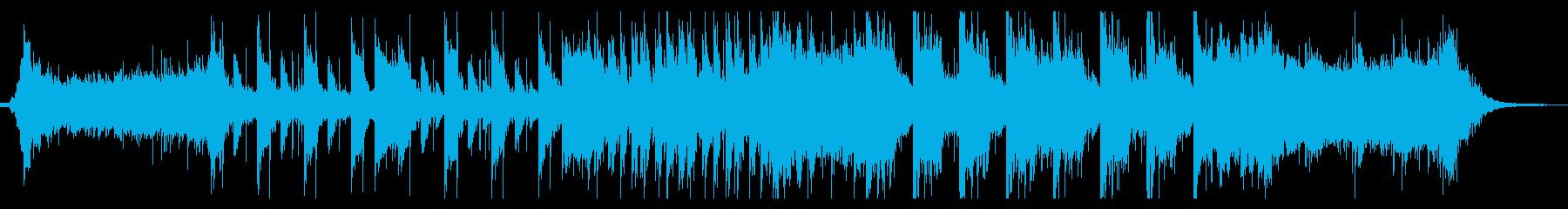 ダークで近未来的なEDMの再生済みの波形