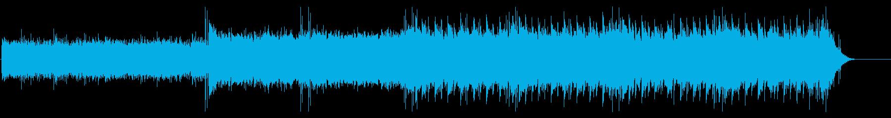 ループ感の強い四つ打ちの再生済みの波形