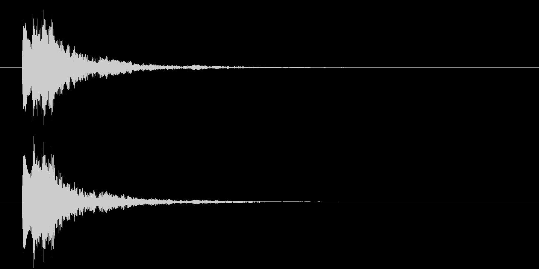 ポロン②(キャンセル・お知らせ・下降音)の未再生の波形