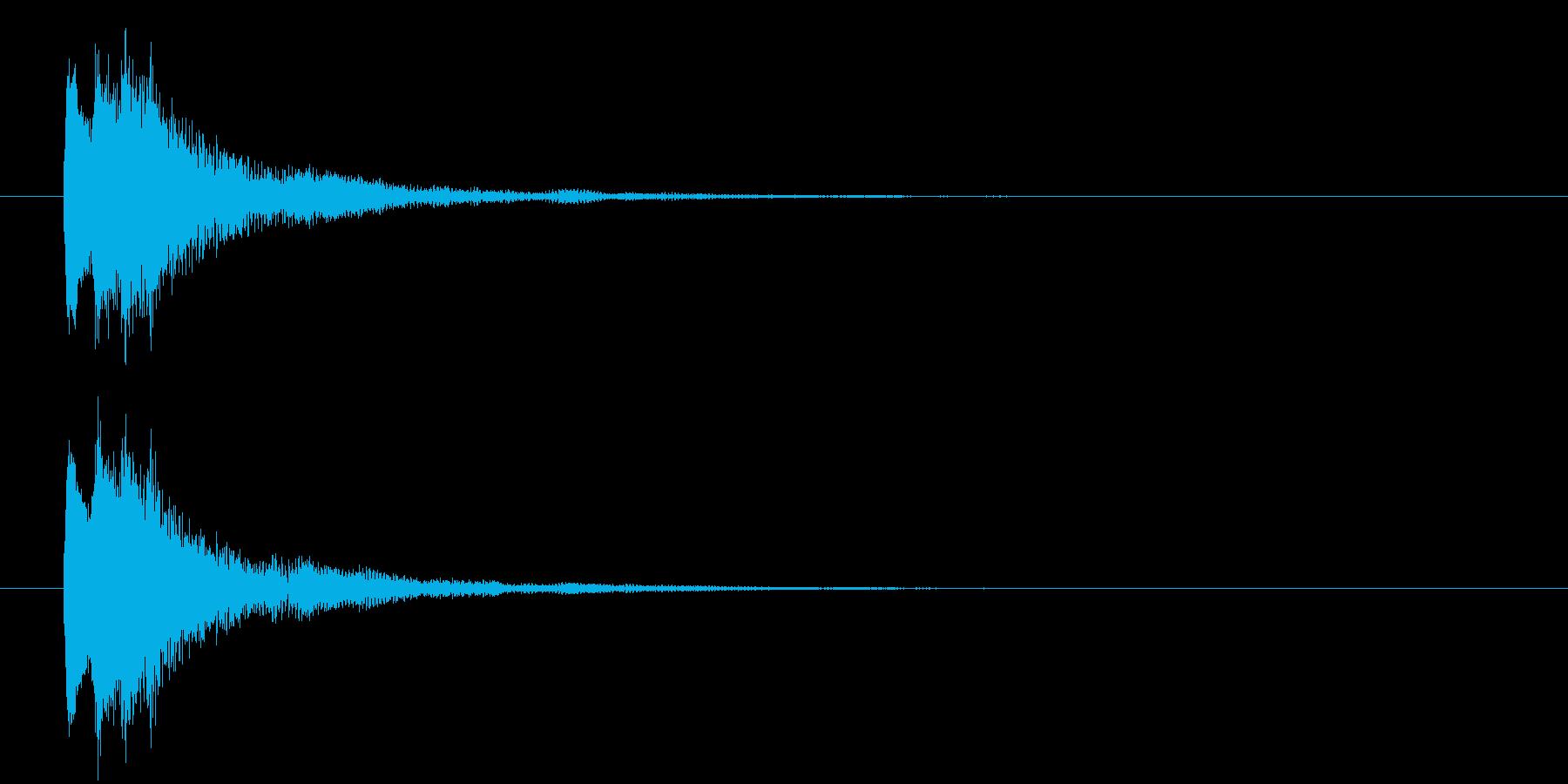 ポロン②(キャンセル・お知らせ・下降音)の再生済みの波形