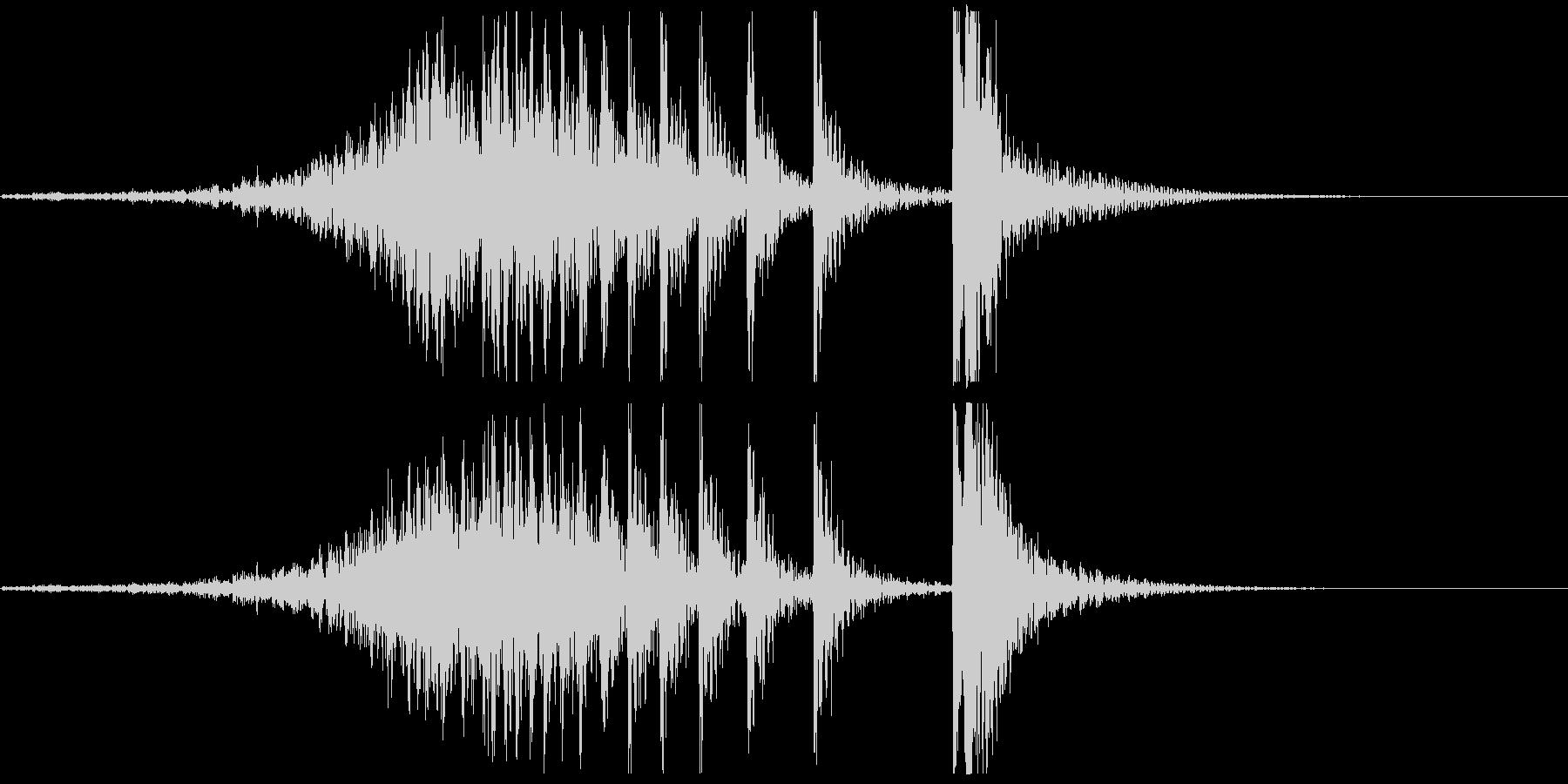 ドコドコ…ドドン!和太鼓/フェードインの未再生の波形