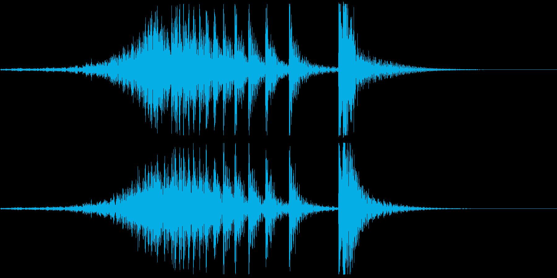 ドコドコ…ドドン!和太鼓/フェードインの再生済みの波形