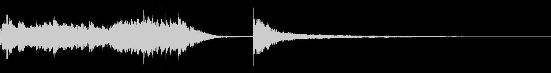 ピアノによるアイキャッチ(印象派風)の未再生の波形