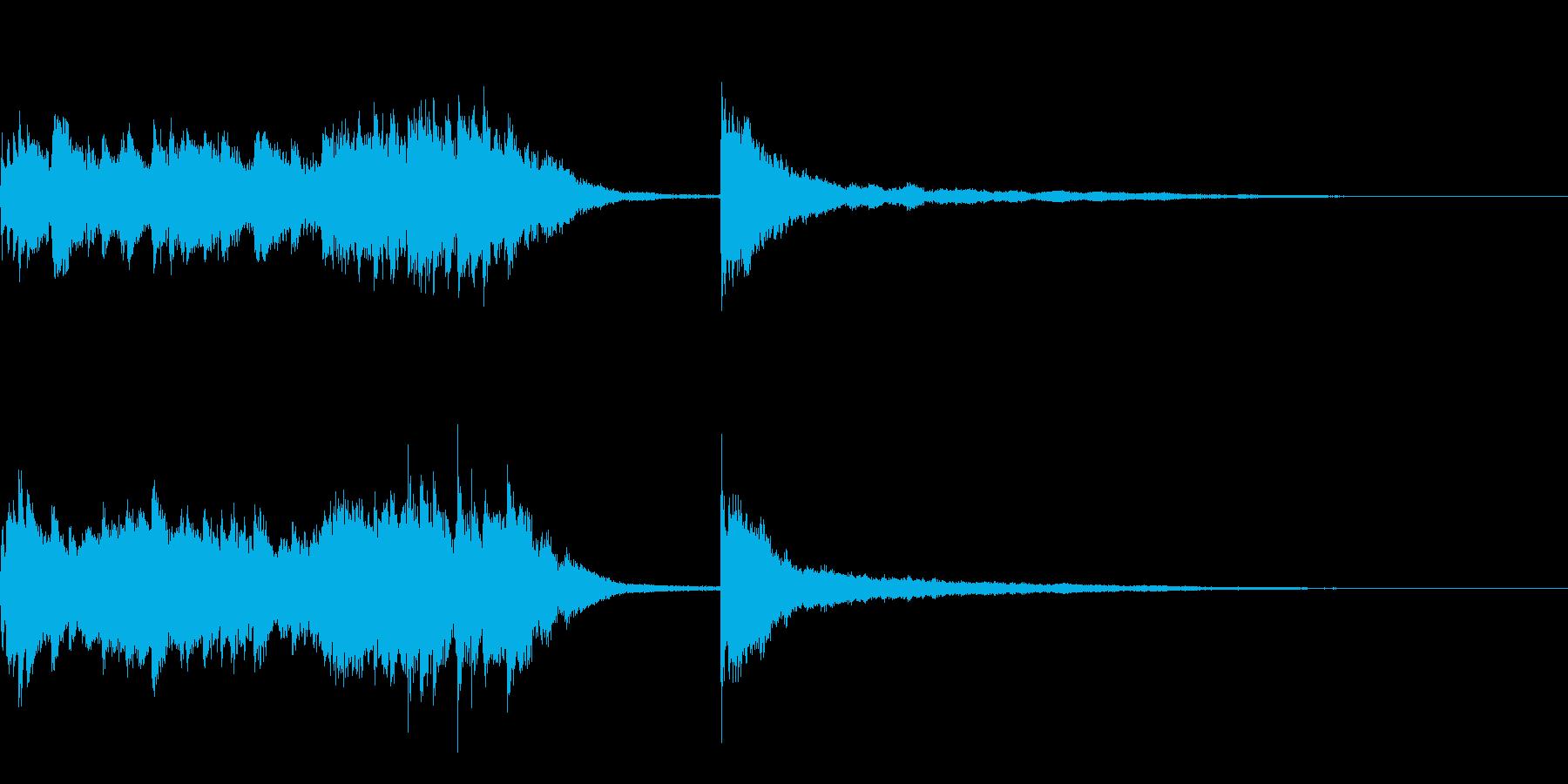 ピアノによるアイキャッチ(印象派風)の再生済みの波形