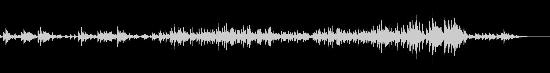 クラシックピアノ ショパンマズルカ27番の未再生の波形