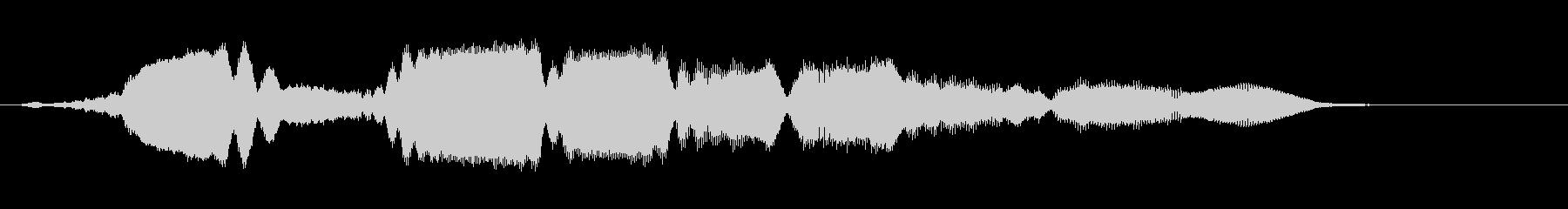 パンフルートの下降 グリッサンドの未再生の波形