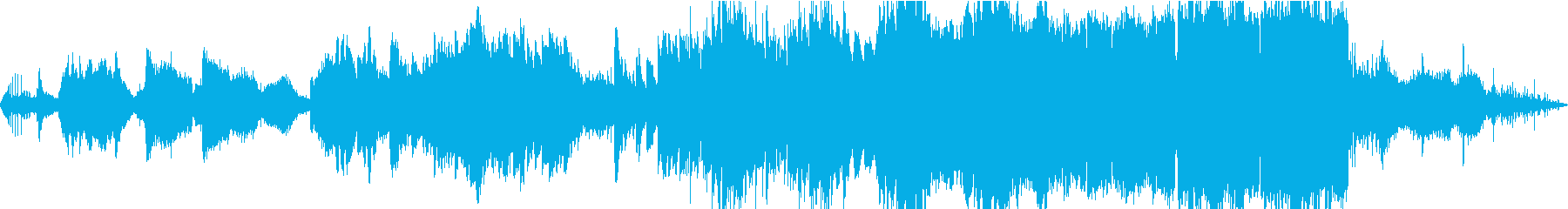 月の夜に戯れるイメージの曲の再生済みの波形