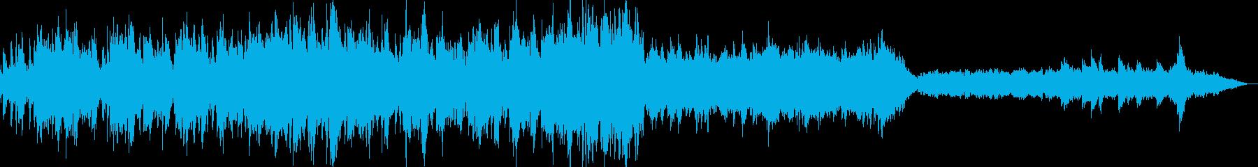 ワクワクする雰囲気のBGMの再生済みの波形