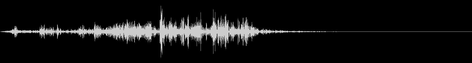 【生録音】本のページをめくる音 4の未再生の波形