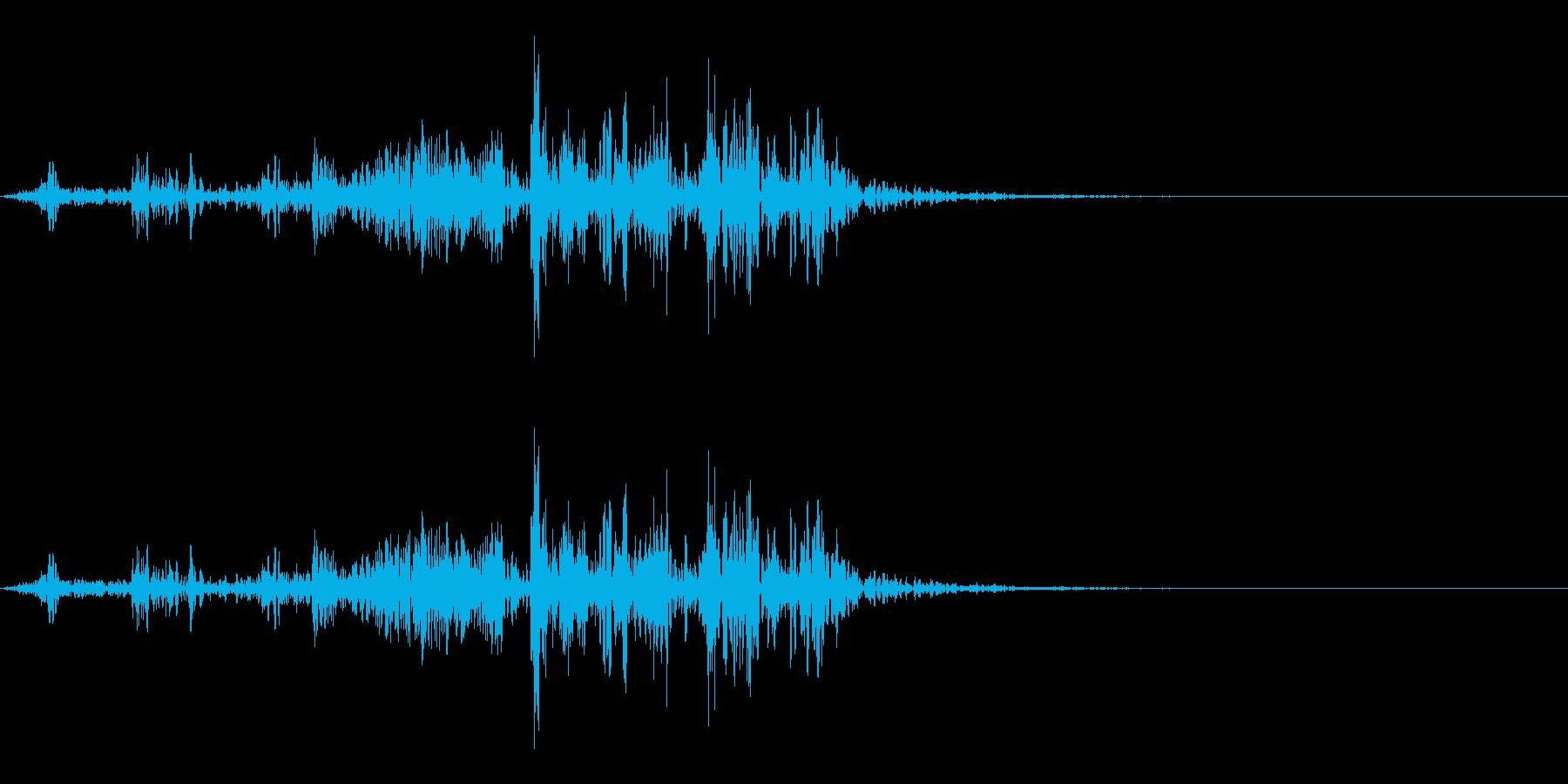 【生録音】本のページをめくる音 4の再生済みの波形