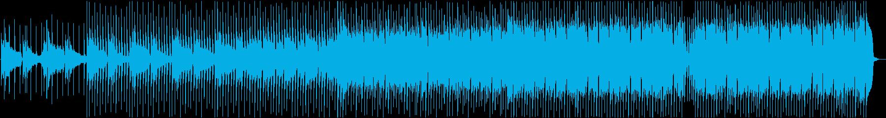 透明感あるピアノメインのEDMの再生済みの波形