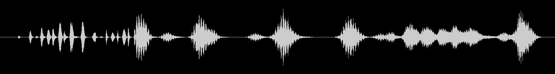 特撮 ガラガラ通知03の未再生の波形