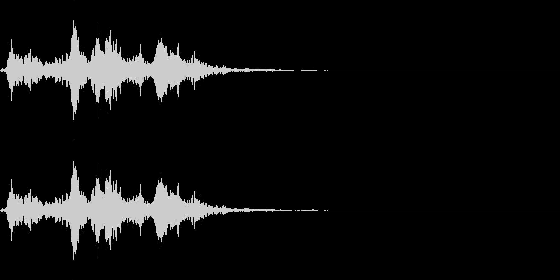 音侍SE「シャンシャーン」象徴的な鈴の音の未再生の波形