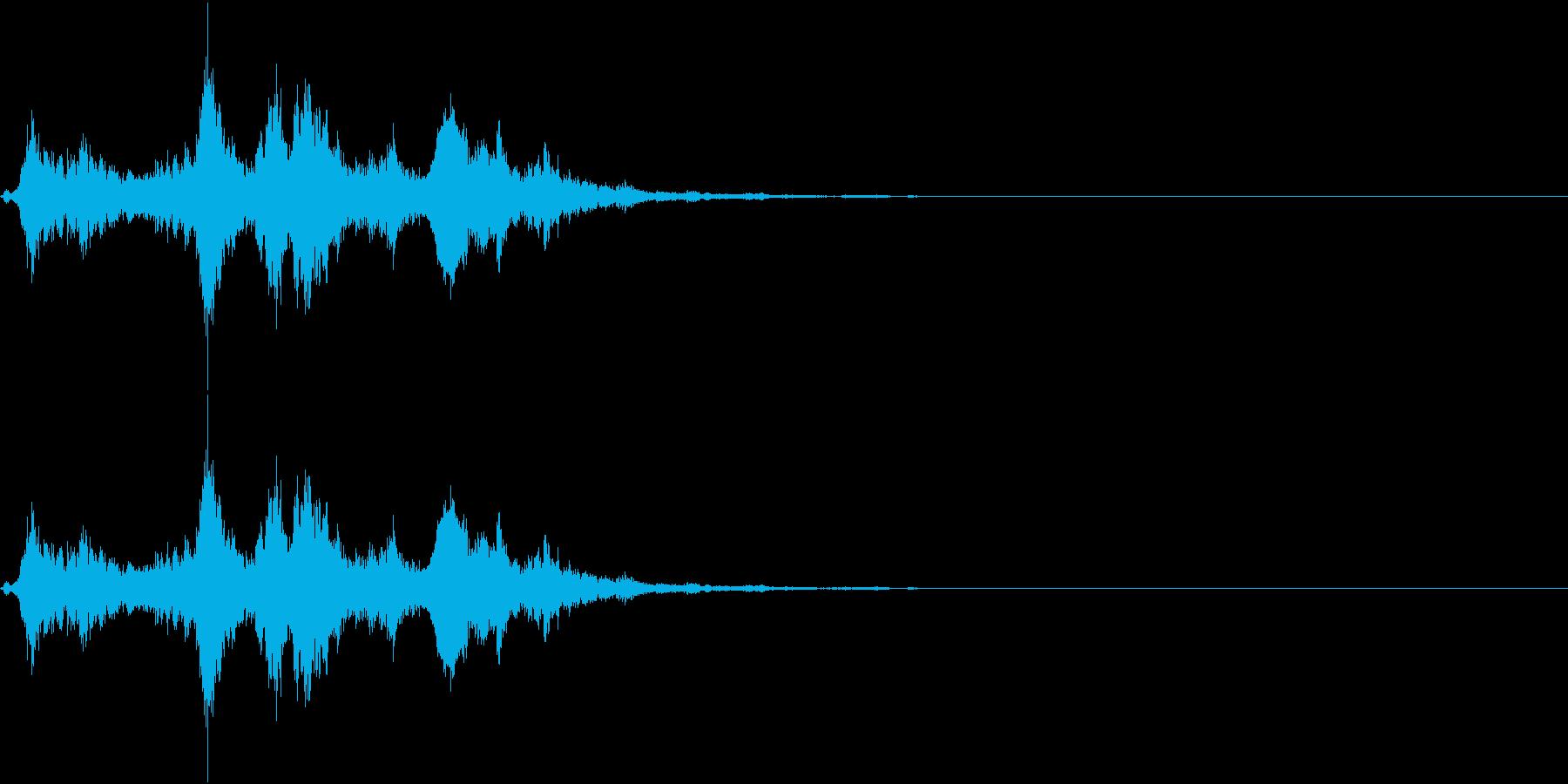 音侍SE「シャンシャーン」象徴的な鈴の音の再生済みの波形