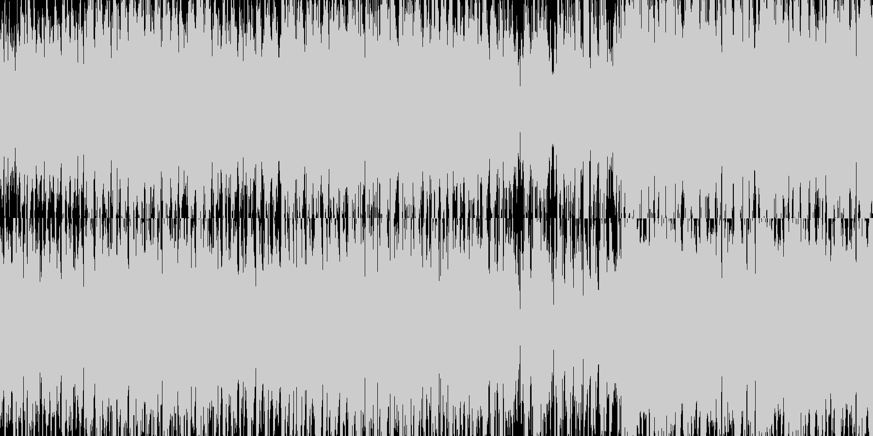 民族楽器を使った陽気なBGMの未再生の波形