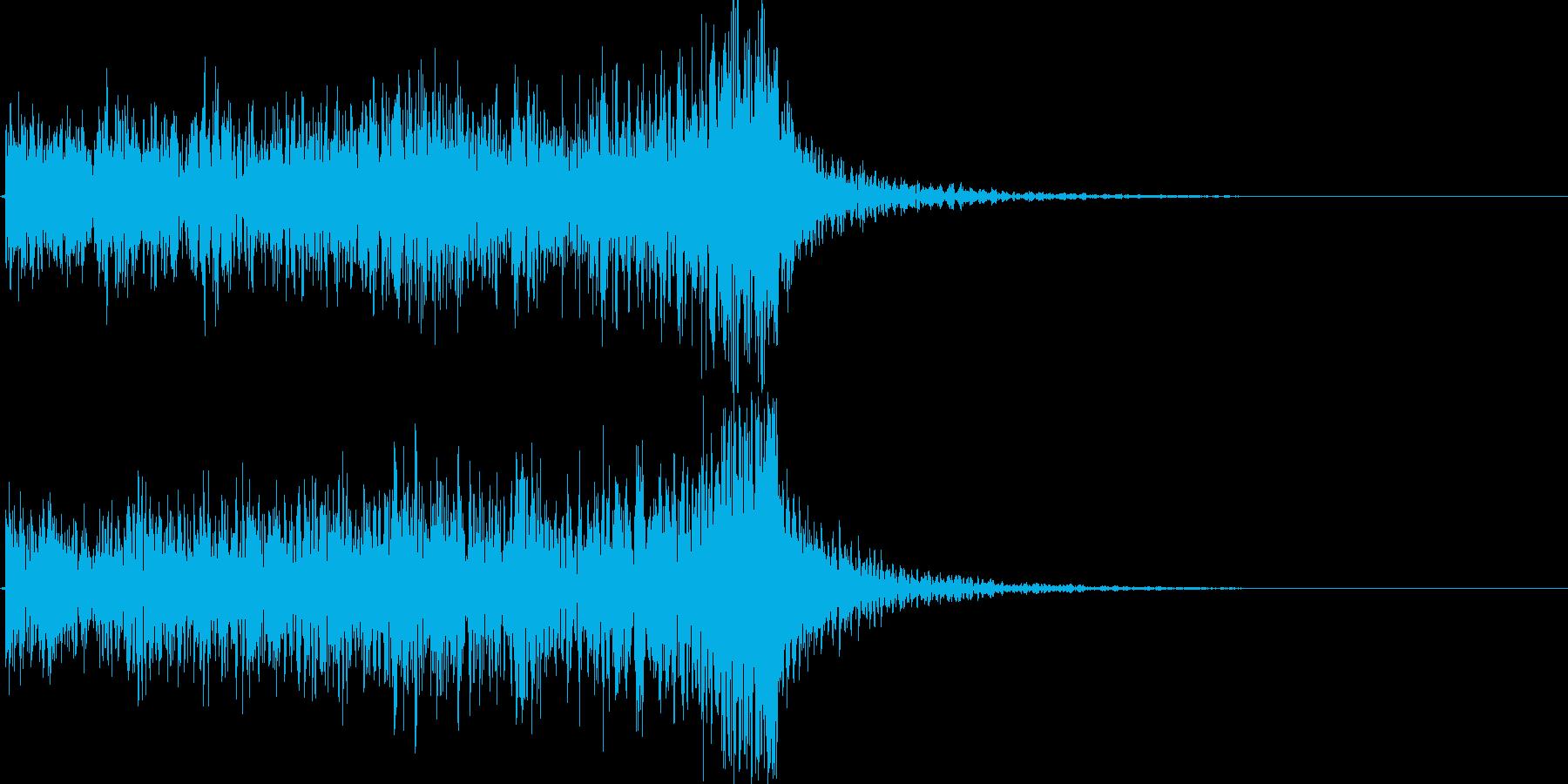 かっこいいドラミングのアイキャッチの再生済みの波形