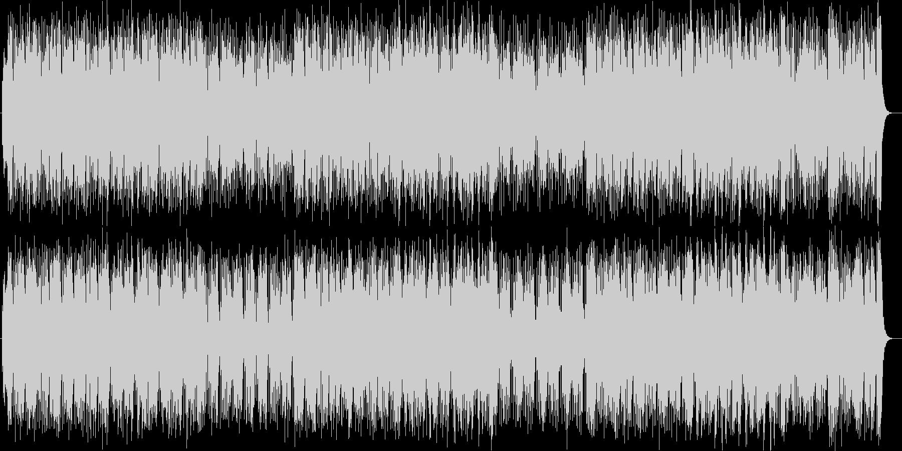 可愛く軽快なピアノポップスの未再生の波形