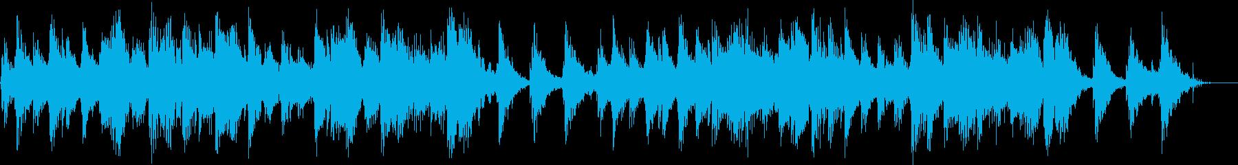 リラックス・安心できるBGMの再生済みの波形