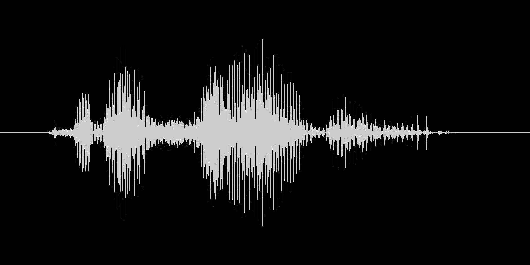 クロスオーバーの未再生の波形