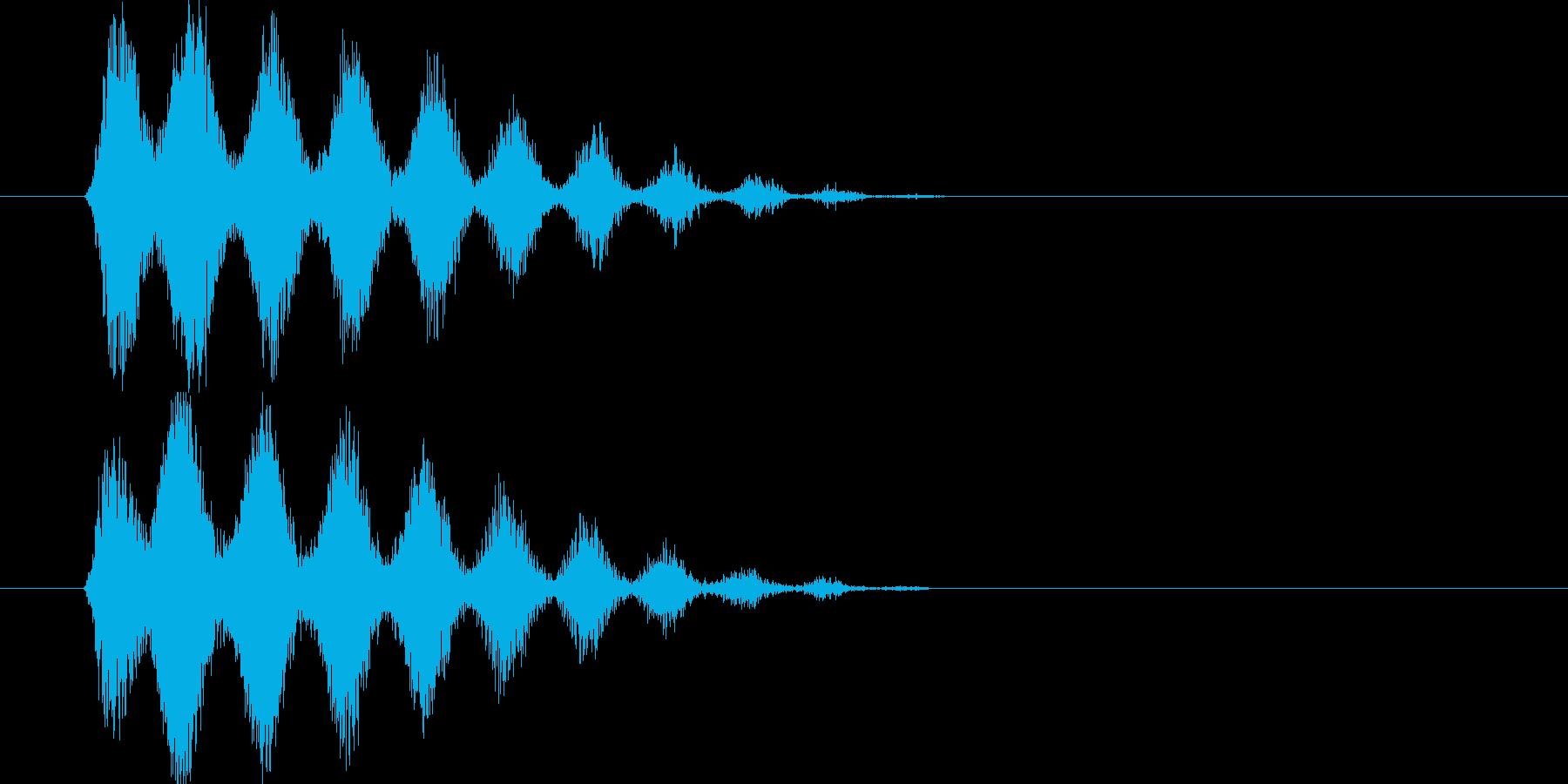 風を切る攻撃の再生済みの波形