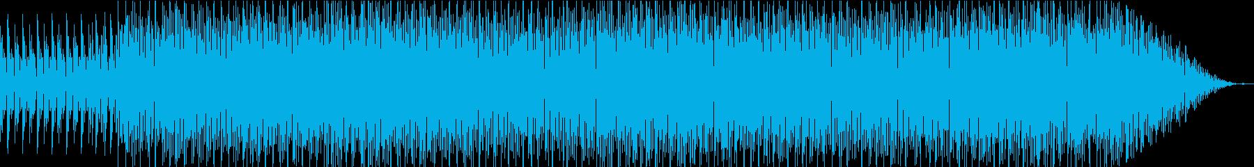 ちょっとあやしい感じのテクノの再生済みの波形