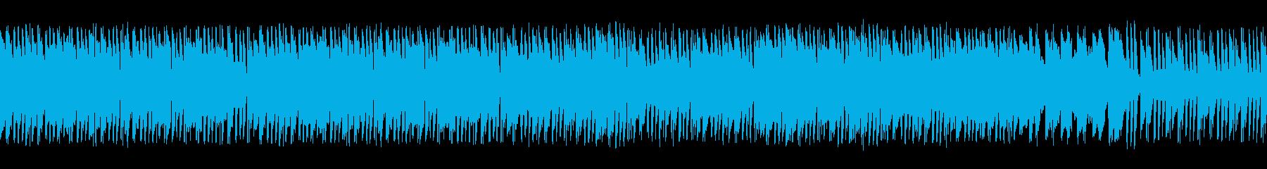 尺八と刺激的なリズムで和風ロック(ループの再生済みの波形